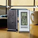Indoor Thermometer Humidity Measurement LCD Digital Electronic Alarm Clock Multi-function Weather Station Home