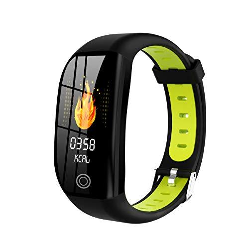 Chuen Lung Reloj Inteligente con Pantalla Grande de 1.14 Pulgadas, rastreador de Ejercicios F21, Reloj rastreador de Actividades con Monitor de Ritmo cardíaco, Reloj Inteligente a Prueba de Agua IP68