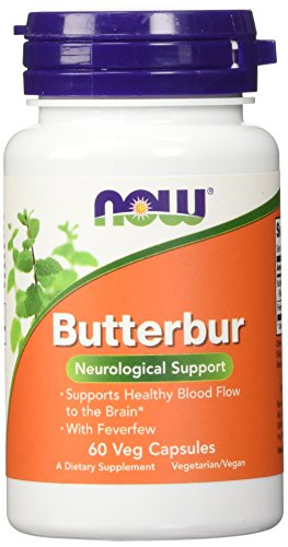 Now Foods, Pestwurz mit Mutterkraut (Butterbur with Feverfew), 75mg, 60 Veg. Kapseln