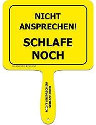 """'Panneaux jaunes + + soulever le original + + Heartwarmers Jaune Plastique avec poignée + + texte: """"Pas–Dors encore + + Plaque avec macagua actionneur + + Panneaux jaunes + + Idéal pour le bureau–Amenez vos collègues rire."""