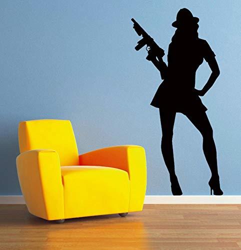 Mrhxly Gangster Frau Moll Wandaufkleber Für Wohnzimmer Home Wandbilder Vinyl Wasserdichte Aufkleber Schlafzimmer Mädchen Hobby Kunst Aufkleber 41 * 84 ()