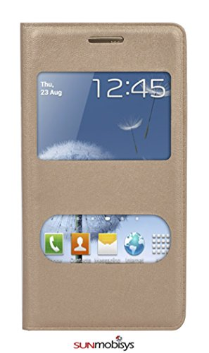 Sun Mobisys®; Samsung Galaxy S Duos S7562 Flip Cover; Flip Cover for Samsung Galaxy Trend Duos S7562 Gold  available at amazon for Rs.149