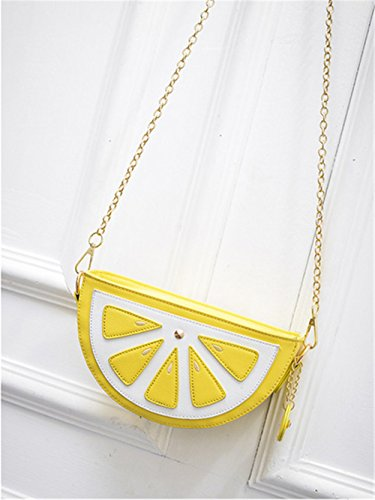 FANCY LOVE, Borsa a spalla donna limone