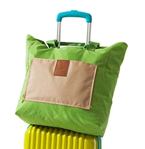 Borse Pieghevoli Portatili Borse Da Viaggio Di Grande Capacità Borse Da Viaggio Coreane Pacchetto Universale, 1pz Verde