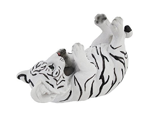 White Bengal Tiger Cub Tabletop Single Wine Bottle Holder Display by Things2Die4 Single Wine Bottle Holder
