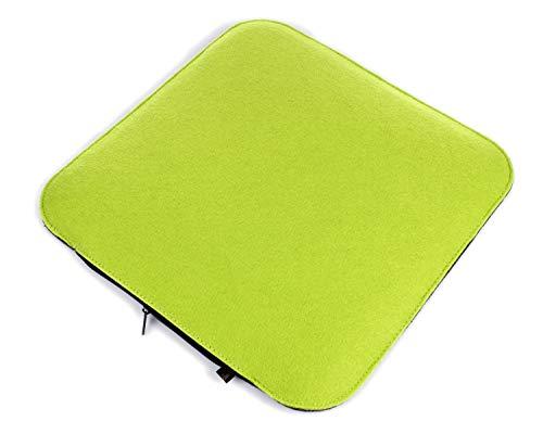 rasgrün/dunkelgrau zum Wenden, waschbare Stuhlauflage mit Füllung inkl. Reissverschluss. Sitzauflage für Bank und Stuhl, Sitzpolster/Filzauflage weich gepolstert. ()