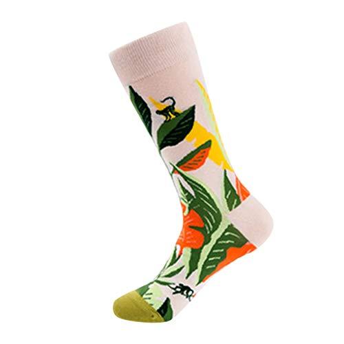 SO-buts Frauen Bunte Helle Herbstblumen Socken in den zufälligen Baumwollsocken des Rohrs, rutschfeste Socken Kinder Sommer rutschfeste Socken Fussball Herren(Weiß,Free Size) - Rohr Mädchen Socken