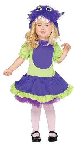 Kleinkind Cuddle Monsterkostüm, Größe: 98-116, grün/lila (Furry Monster Halloween Kostüme)