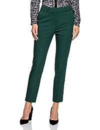 49eaabcf5 oodji Collection Mujer Pantalones Ajustados con Pinzas
