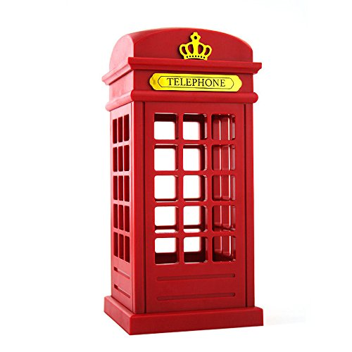 Rot Retro Classic London England Britische Telefonzelle USB Lade-LED Night Mood Nachttisch Licht