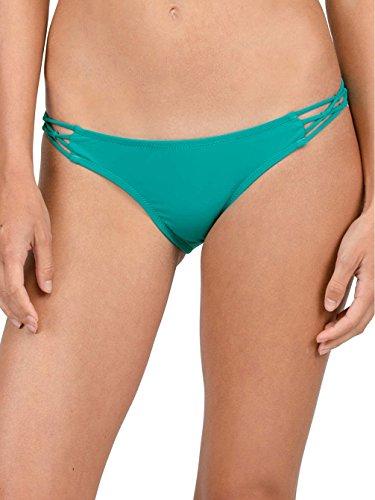 Volcom Damen Simply Solid Bikini Hose Türkis, Teal, L