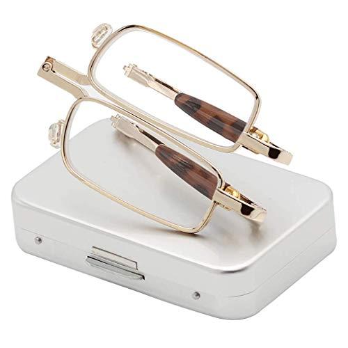 Lesebrille Zusammenklappbare Schutzhülle, HD komfortable Anti-Müdigkeits-Brille für ältere Menschen (+1.0 bis +3.0) (Zum Schlafen Regeln 10)