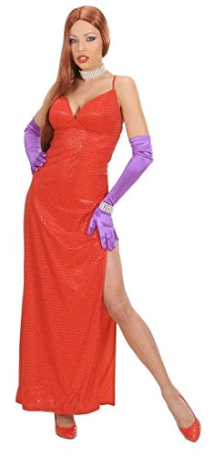 Widmann wid58922–Kostüm für Erwachsene Femme Fatale, rot, M