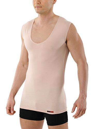 Albert Kreuz Deep-V-Unterhemd unsichtbar Business-Unterhemd aus Stretch-Baumwolle mit extra tiefem V-Ausschnitt ohne Arm Hautfarbe Nude 8/XXL (Stretch-baumwolle Unterhemd)