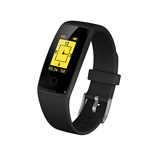 ESOLOM Fitness Trackers Smart Bracelet, OLED Colorful Display Activity Tracker Watches with Heart Rate/Blood Pressure, Sleep Monitor Calories Pedometer,Call/SMS Reminder USB charge for iOS and Android