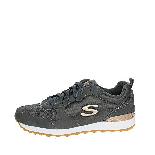 Skechers Damen Retros-og 85-goldn Gurl Sneaker, ((Charcoal Suede/Nylon/Mesh/Rose Gold Trim Ccl), 6 EU