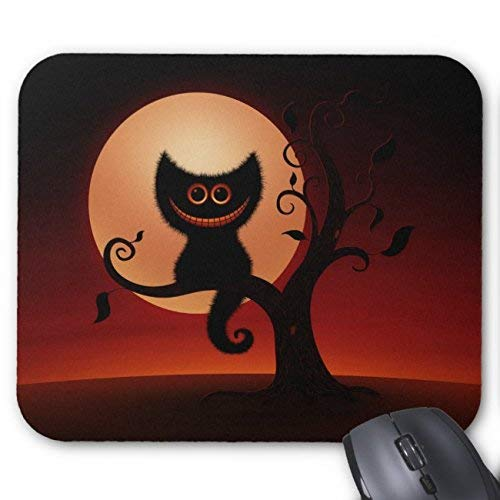 Halloween Kitten Mouse Pad Rectangle Non-Slip Rubber Personalized Mousepad Gaming Mouse Pads