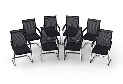 Konferenzstühle & Besucherstühle Modell MARINA (8er-Set)