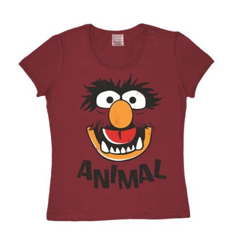 Logoshirt T-Shirt Muppets Faces dunkelrot M -