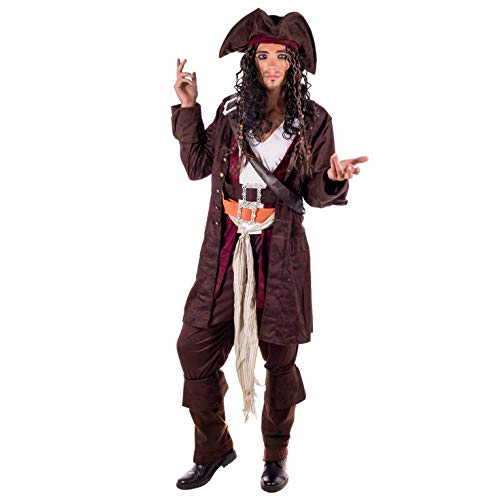 Fancy Dress Kostüm Pirate - RUM SMUGGLER PIRATE Adult Fancy Dress Costume All Sizes