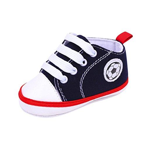 Pour 0-18 mois chaussures de bébé, Amlaiworld Bébé infantile Basket Print football Antidérapant Semelle molle Chaussures de toile