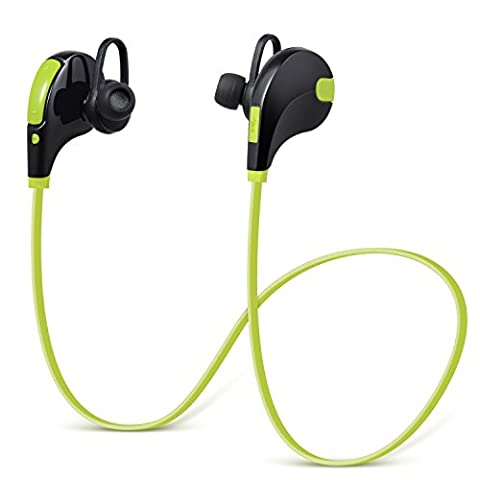 ULTRICS® Bluetooth Headphones, In Ear Wireless Headsets Earbuds Premium Stereo Bass Sound Sweatproof Noise cancelling Microphone Secure Fit Earphones for iPhone Samsung Galaxy Nokia HTC LG MP3 Players & Any Bluetooth Media Devices