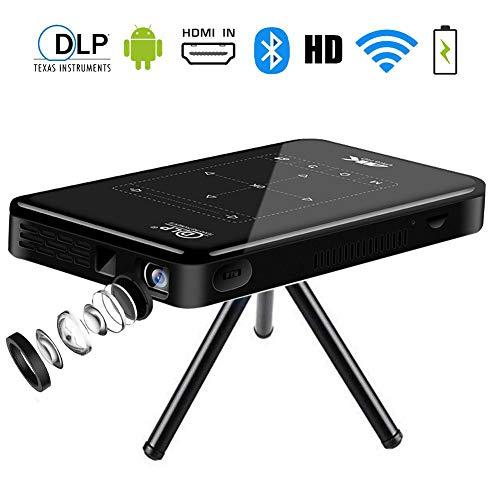 Heimkino Beamer HD,Mini Video Projekto,SFZAV Videobeamer unterstützt 1080P Full HD mit max 200 inch Display,WiFi,Bluetooth Lautsprecher,PC Laptop Smartphone,HDMI VGA USB AV,(2G+16G) Digital Projector Ceiling Mount