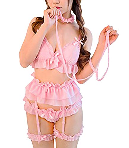 365-Shopping Women Lolita Babydoll Sexy Lingerie Lace Sleepwear Nightwear Bondage Set