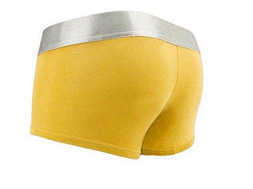 Calzoncillos amarillos sin costuras para hombre
