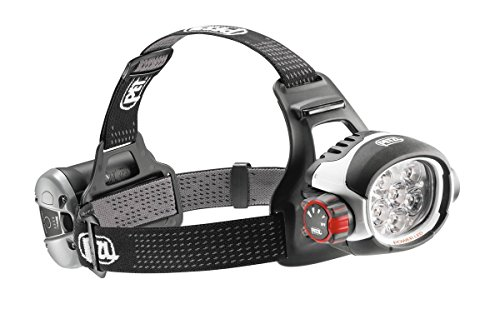 Petzl ULTRA RUSH BELT - Linterna (Headband flashlight, LED, Negro, Color blanco, IP67, Ión de litio)