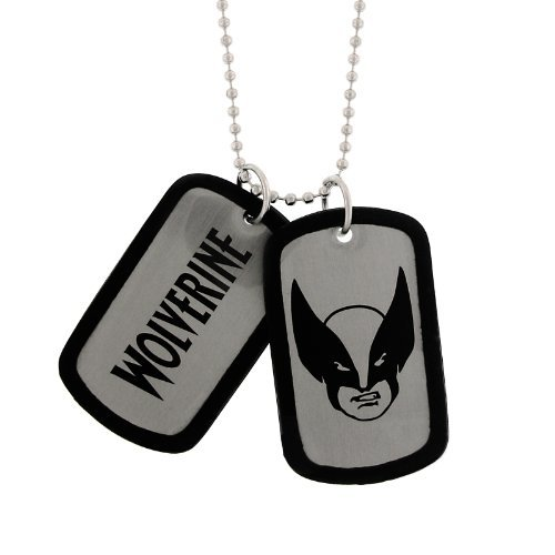 New Series Marvel Comics Wolverine Silhouette Dogtags Dog Tag by Jewel M