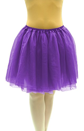 Dancina Damen Tutu Karneval Fasching Kostüm Tüllrock Violett One Size