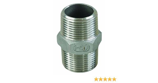 Sirocco 06210802 V2A Doppelnippel reduziert AG 0,75 x 0,50 Zoll