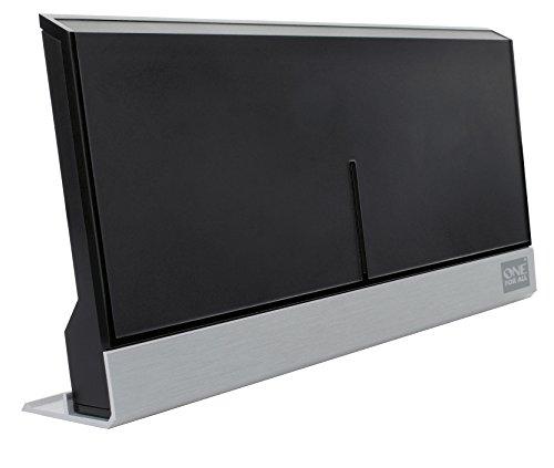 Antenne intérieure amplifiée de OneForAll - SV9385 - Réception TNT - Compatible FullHD et UltraHD4K - Noire