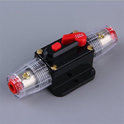 Porte-fusible Audio pour Voiture, Système de Protection Audio pour Voiture Professionnel Disjoncteur 100/80-amp Commutateur de réinitialisation Manuelle Porte-fusible AGU Installation Facile