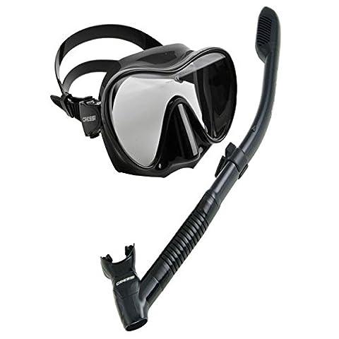 Cressi Scuba Diving Snorkeling Freediving Mask Snorkel Set,