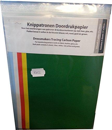 dibondt Schneider Kopierpapier Bunt, 5 Blatt a 17x58 cm