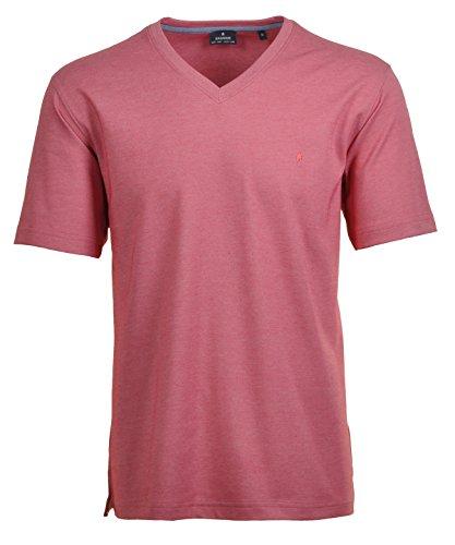 RAGMAN Herren RAGMAN T-Shirt Softknit uni, Pflegeleicht Hellrot-610