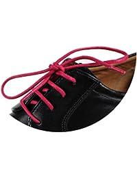 Cordones redondos para zapatos, de 55 Sport, de algodón encerado, color Gris, talla 125 cm