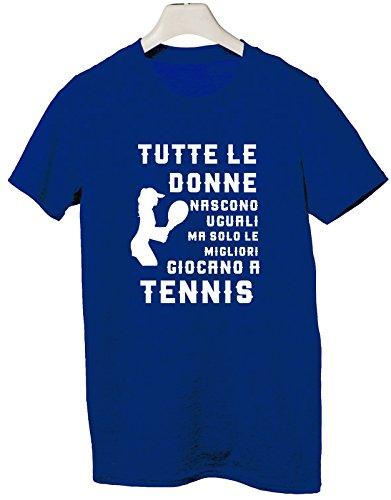 Tshirt Mestieri - tutte le donna nascono uguali ma solo le migliori giocano a tennis - Tutte le taglie by tshirteria
