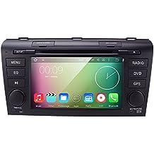 HIZPO 7 inch 1024*600 HD Monitor Quad Core Android 5.1 Lollipop Car in Dash Radio 2Din Stereo DVD Player for MAZDA3 Mazda 3 Support GPS Navigation SWC WIFI SD CAM-IN OBD2 DAB+ TV DVR