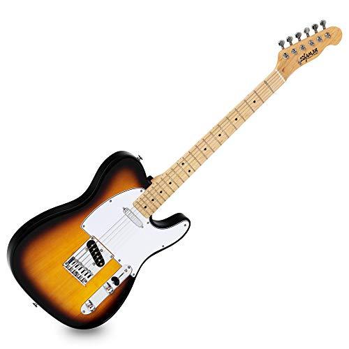 Shaman Element Series TCX-100VS - E-Gitarre in TL-Bauweise - geölter Hals aus Ahorn - Ahorn-Griffbrett - Vintage Sunburst -