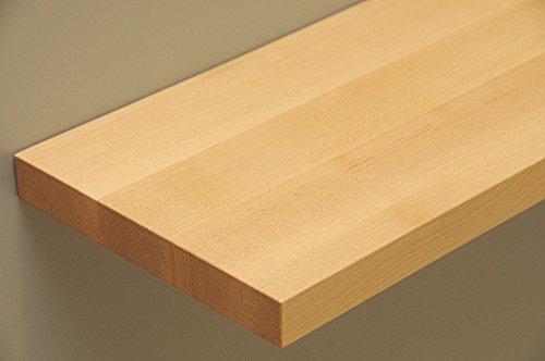 Holz-Projekt-Summer Regalboden Regalbrett Massivholz T:20cm Dicke:25mm Länge indiv. DIY (100cm, Ahorn)