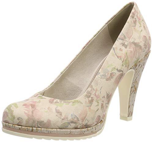 Marco Tozzi 2-2-22412-32, Zapatos con Plataforma para Mujer, Beige Dune Flower 439, 37 EU