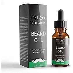 Bartöl für Männer - 30ml 100% Pure Natural Organic für Gepflegte Bärte, Weichmacher für Männer, Schützt und Spendet Der Haut Feuchtigkeit, Entfernt Juckreiz Best Facial Hair Grooming Product