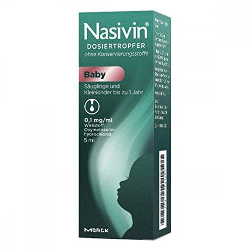 Nasivin Dosiertropfer ohne Konservierungsstoffe Baby, 5 ml Lösung
