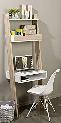 SoBuy® FRG111-WN Étagère de Rangement Bibliothèque avec bureau cubique et