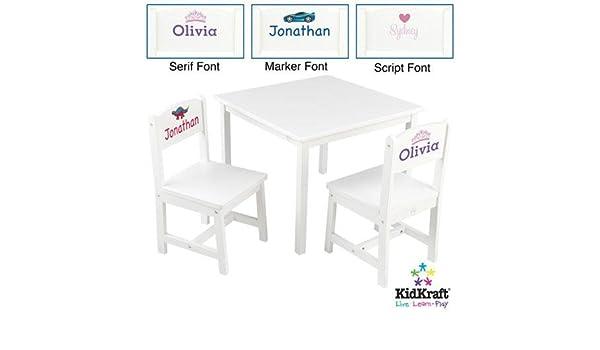 Surprising Kidkraft Aspen Table And Chairs Set White Amazon Co Uk Baby Machost Co Dining Chair Design Ideas Machostcouk