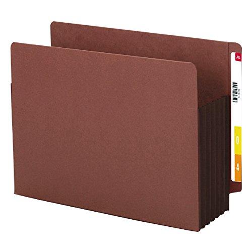 SMEAD Ende Tab Tasche, verstärkte gerade geschnittene Tab, 5-1/10,2cm Expansion, extra breit Buchstabe Größe, Redrope mit dunkelbraun Seitenfalte, 10Stück pro Box (73691) (Expansion Dateien Von)