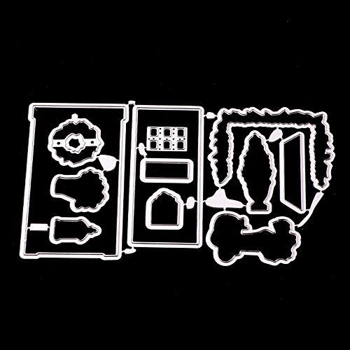 Berrose -DIY-Prägemesser Modell Urlaub Karte Dekoration Big Shot Karten basteln Brad Embossing stanzschablone schachtel prägeschablonen selber Machen Weihnachten stanzen stanz und präge Set